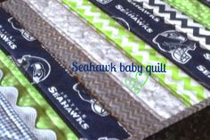 Seattle Seahawk baby quilt by Lovesewnseams on Etsy, $128.00