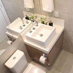 Banheiro lindo pra inspiração, adorei esse revestimento e o piso ❤️ #decor #decoração #decoration #decorando #desing #interiordesing #banheiro #lavabo #apartament #apartamento #apenovo #apepequeno #home #homedecor #homedecoration #inspiração #inspiration #ideias