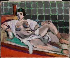 Henri Matisse (French, Fauvism, 1869-1954). 1928, Reclining Odalisque, Oil on…