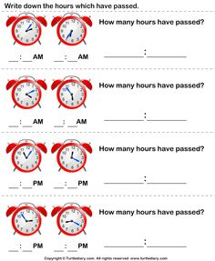 elapsed time worksheets | Elapsed time 2