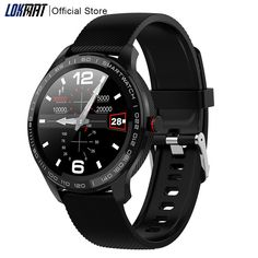 Buy LOKMAT Smart Watch Full Touch Men ECG PPG Waterproof Bluetooth Heart Rate Blood Pressure Fitnesss Tracker Smartwatch For Xiaomi at www.smilys-stores.com! Free shipping. 45 days money back guarantee. Sport Watches, Cool Watches, Watches For Men, Men's Watches, Luxury Watches, Black Ops, Smartwatch Waterproof, Bluetooth, Huawei Phones
