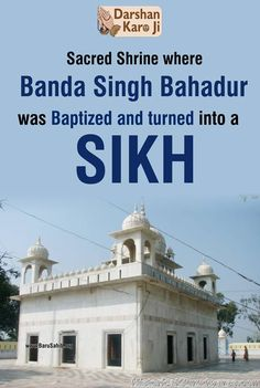 #DidYouKnow Sacred Shrine where Banda Singh Bahadur was Baptized and turned into a SIKH Share & Spread!