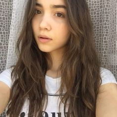 No make up Rowan Blanchard she is beautiful any way!