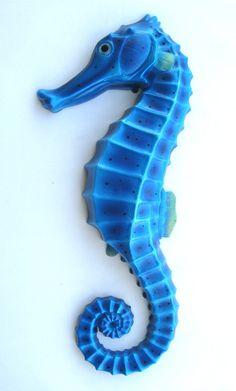 Blue Seahorse Wall Plaque #seahorse