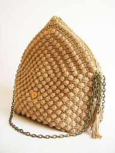 Bobble Stitch Bag By ChabeGS - Purchased Crochet Pattern - (ravelry)