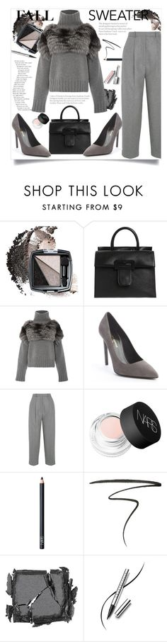 """""""Fall Sweater"""" by ann-s-nna ❤ liked on Polyvore featuring Avon, Maison Margiela, Sally Lapointe, Yves Saint Laurent, Acne Studios, NARS Cosmetics, Eyeko, Surratt, Chantecaille and Burberry"""