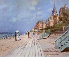 Monet, Beach at Trouville.