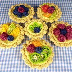 Fruit Desserts amigurumi crochet pattern by Janine Holmes at Moji-Moji Design