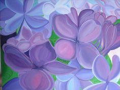 Lovely Lilacs acrylic painting