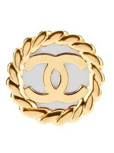 CHANEL VINTAGE - Logo earring