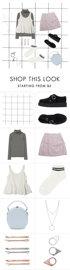 """""""So many Stripes !"""" by sandrademoor ❤ liked on Polyvore featuring T.U.K., StyleNanda, Uniqlo, Handle, Botkier, Madewell, Monki and sandrasets"""