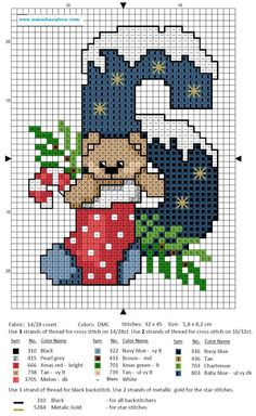 Christmas Advent - 6 Xmas Cross Stitch, Cross Stitch Love, Cross Stitch Needles, Cross Stitch Charts, Cross Stitch Designs, Cross Stitching, Cross Stitch Embroidery, Stitch Patterns, Cross Stitch Numbers