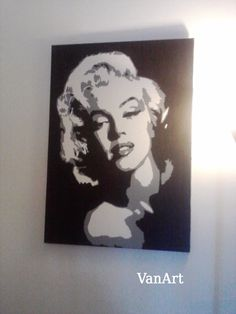 MARILYN MONROE Quadro POP ART dipinto a mano su tela 50 x 70 IN PRONTA CONSEGNA