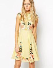 Needle & Thread Embellished Floral Circle Dress