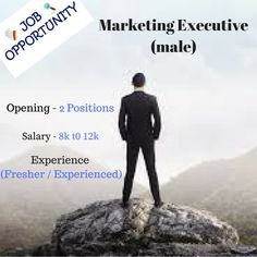 Hurry-Up...!!  Opportunity in The Baiscs Digital Solutions Pvt. ltd. for EXECUTIVES profile  1. Marketing Executive 2. Business Development Executive.  Interested Canddates drop their CVs at hr@thebasics.co.in or call at 9981995515 Job Posting, Marketing Jobs, Opportunity, Profile, Positivity, Drop, Digital, Business, User Profile
