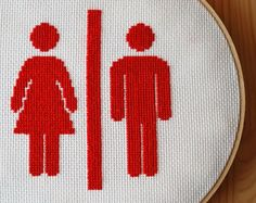 cross stitch for the wc
