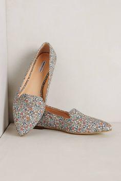 Floral Loafers - anthropologie.com - $148