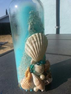 Beach themed centerpiece - www.etsy.com/shop/HCMemories