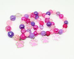 Skye Paw Patrol bracelets party favors with special birthday girl bracelet by BeadedPerfection on Etsy