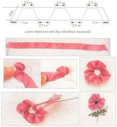 Wonderful Ribbon Embroidery Flowers by Hand Ideas. Enchanting Ribbon Embroidery Flowers by Hand Ideas. Learn Embroidery, Hand Embroidery Stitches, Embroidery Techniques, Embroidery Patterns, Ribbon Embroidery Tutorial, Flower Embroidery Designs, Silk Ribbon Embroidery, Ribbon Art, Fabric Ribbon