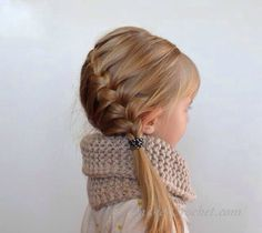 Side braid pony tail cute for grown women and children