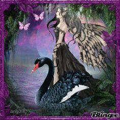 fantasy swan | ... plus upgrade now install blingee plus free tags fairy fantasy swan