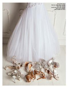 From our editorial - ETHEREAL ATMOSPHERE Photo: Sofia Riva Styling: Sabrina Mellace Styling ass.: Filippo Scrivani Hair&Makeup: Ago S. Emé di Emé dress. First row, Loriblu plateu sandals, Pura Lopez sandals; second row, Pura Lopez sandals, Jimmy Choo décolleté, Loriblu sandals and shoes. #emedieme #dress #loriblu #plateu #sandals #puralopez #jimmychoo #decollete #shoes #bride #wedding #fashion #style #look @Loriblu @Jimmy Choo