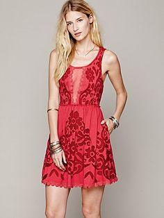 422d7ceec61a Free People Love Letters Burnout Dress Abbigliamento Free People
