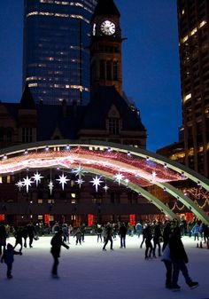 Skating at Toronto City Hall, a winter wonderland place. www.facebook.com/loveswish