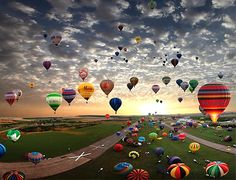 Lorraine Mondial Air Balloons Festival in Chambley, France.