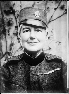 Flora Sandes, (1876-1956), The only British woman to officially serve as a soldier in #WWI