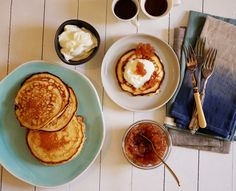 Perfect for breakfast, whip them up in a jiffy. Be ready with the Cardamom Pear Jam or Strawberry Vanilla Jam. YUM, additive free, made from scratch. Buttermilk Pancakes, Breakfast Pancakes, Breakfast Recipes, Pikelet Recipe, Pancake Toppings, Pear Jam, Fiber Foods, Kinds Of Salad, Light Recipes