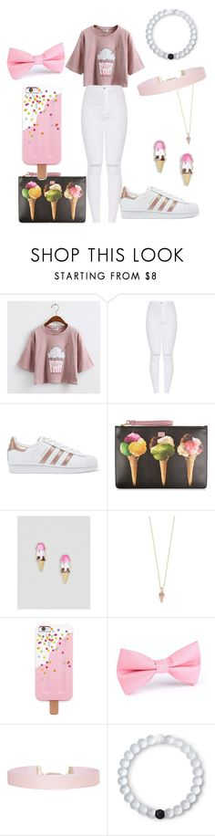 """""""Ice Cream Outfit"""" by kiyah98077 on Polyvore featuring adidas Originals, Dolce&Gabbana, ASOS, Sydney Evan, Forever 21, Humble Chic and Lokai"""