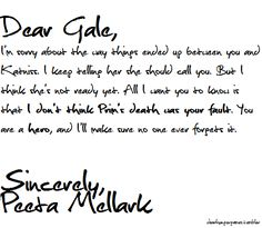 SPOILER!  I like to think this is something Peeta would have sent to Gale