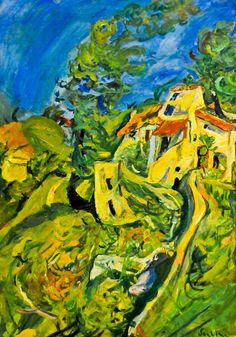 Chaim Soutine - Paysage, 1923 at Musée de l'Orangerie Paris France