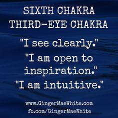 third-eye chakra affirmation