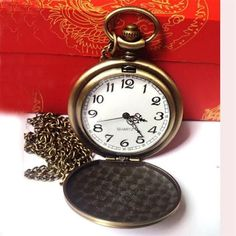 The Greatest Dad Retro Chain Pocket Watch