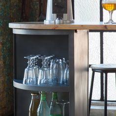 Ilot central métal manguier Luminaire Suspension Design, Home Accents, Bar Cart, Furniture, Decoration, Home Decor, Unique, Grey, Decor