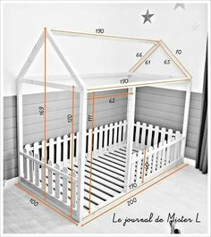 Cama-casita Montessori The post Cama-casita Montessori appeared first on kinderzimmer. Big Girl Rooms, Baby Boy Rooms, Baby Bedroom, Baby Room Decor, Girls Bedroom, Trendy Bedroom, Bedroom Ideas, Kids Room Design, Kid Beds