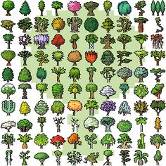 Title:	A Hundred Trees Pixel Artist:	X0-000