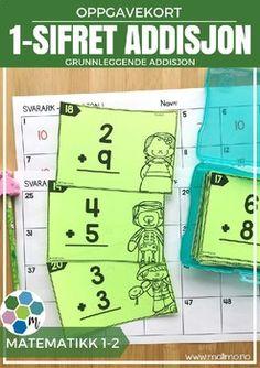 Oppgavekort er veldig kjekke oppgaver som kan brukes sammen med hele klassen, i sm grupper p stasjoner eller som individuelt arbeid. Felles retting er fint, eventuelt kan elevene bytte svarark eller sammenligne med en venn. Du kan i tillegg bruke kortene til arbeid med muntlig matematikk, enten p lrerstyrt stasjon eller i par og gruppe.