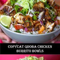 Qdoba Burrito Bowl Recipe, Qdoba Chicken Recipe, Qdoba Recipe, Chicken Burrito Bowl, Burrito Bowls, Chicken Recipes, Supper Ideas, Dinner Ideas, Burritos