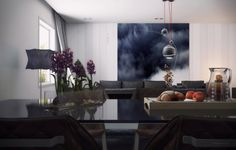 Thick Glass Top Dining Table Enduring Inspiration from Vic Nguyen. #Interiordesign