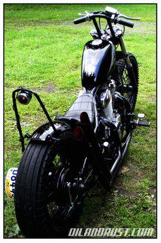 """Black Shadow"" Honda vt600 hardtail custom"