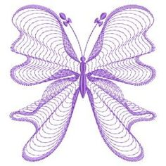 Rippled Butterflies 08(Lg) machine embroidery designs