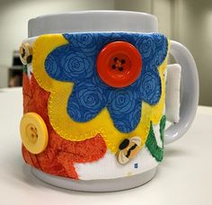 Stitch It and Gift It! – Ms P Designs USA Coffee Cup Cozy, Mug Cozy, Bright Spring, Spring Colors, Make A Mug, Work Friends, Blanket Stitch, Mug Rugs, Wool Felt