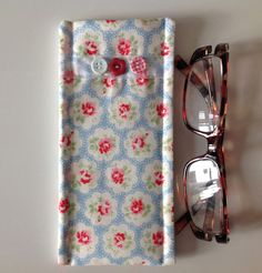 Cath Kidston Blue Provence Fabric Glasses Case by sewmoira on Etsy, £4.00