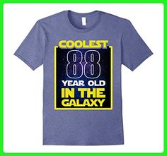 Mens Coolest 88 years old in the galaxy Funny 88th birthday Shirt Small Heather Blue - Birthday shirts (*Amazon Partner-Link)