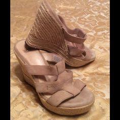 UGG Sandals Sand color UGG 4 1/2 inches heel height wedge sandal. UGG Shoes Sandals