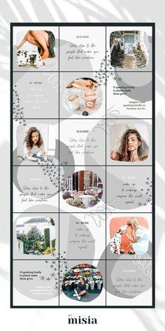 Instagram Feed Ideas Posts, Instagram Feed Layout, Instagram Grid, Instagram Design, Free Instagram, Instagram Story, Best Instagram Feeds, Graphisches Design, Grid Design